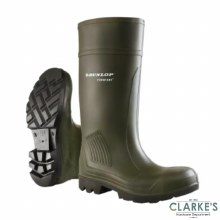 Dunlop Purofort Green Wellies Size 9