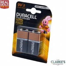 Duracell Plus Power 9V Batteries Twin Pack