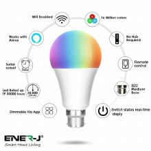 ENER-J Smart B22 RGB, White, Warm White Dimable Bulb B22