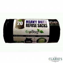 Ecobag Heavy Duty 20 Refuse Sacks 100 Litre