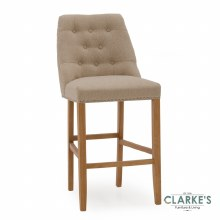 Eldridge linen beige bar stool