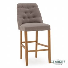 Eldridge linen grey bar stool