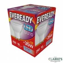 Eveready LED 3W (35W) GU10 Spot Daylight Light Bulbs 5 Pack