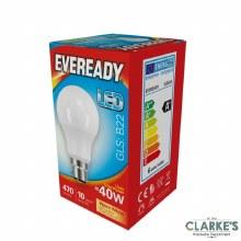 Eveready LED 9.6W (60W) B22 GLS Light Bulbs 5 Pack