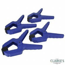 Faithfull Spring Clamps 12kg Force Set of 4