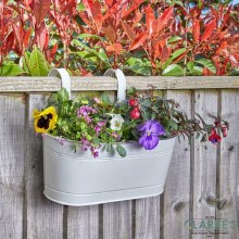"""Fence and Balcony Hanging Ivory Planter 12"""""""