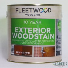 Fleetwood 10 Year Exterior Woodstain Antique Pine 1 Litre