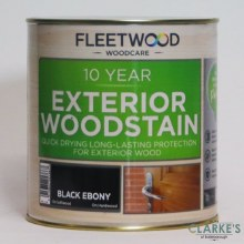Fleetwood 10 Year Exterior Woodstain Black Ebony 1 Litre