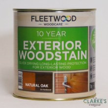Fleetwood 10 Year Exterior Woodstain Natural Oak 1 Litre