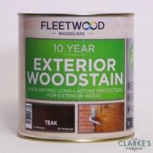 Fleetwood 10 Year Exterior Woodstain Teak 1 Litre