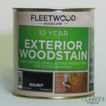 Fleetwood 10 Year Exterior Woodstain Walnut 1 Litre