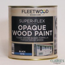 Fleetwood Super-Flex Opaque Wood Paint Satin Black 1 Litre