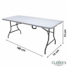 Large Folding Garden Table 180cm
