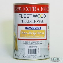 Fleetwood Traditional Non-Drip Gloss White Paint 750ml + 33% FREE