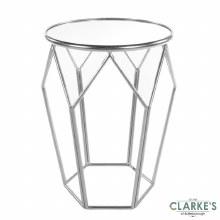 Geometric Mirrored Table Silver