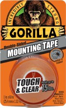 Gorilla Double Sided Mounting Tape Clear