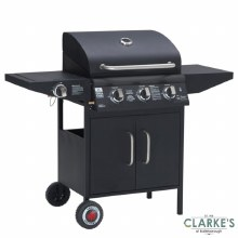 Grill Chef Gas 3 Burner Barbecue with Side Burner