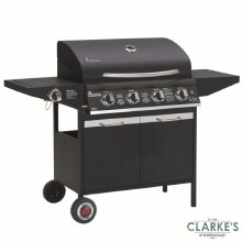 Grill Chef Gas 4 Burner Barbecue with Side Burner
