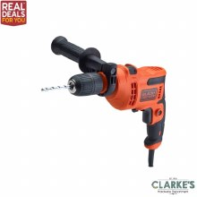 Black & Decker 500w Hammer Drill with 8 Piece Drill Bit Set