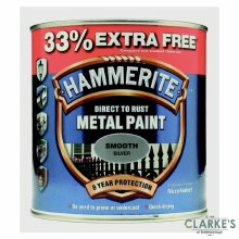 Hammerite Metal Paint Smooth Silver 750ml + 33% EXTRA