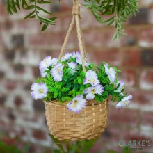 Hanging Basket Bouquet Purple