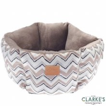 Hexagon Chevron Pet Bed Beige