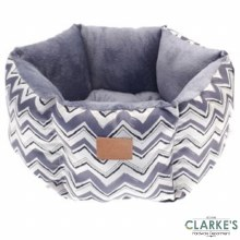 Hexagon Chevron Pet Bed Blue