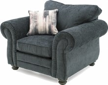 Hollins Charcoal Armchair