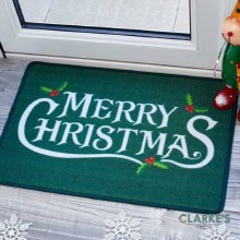 Holly Jolly Christmas Door Mat 60x40cm