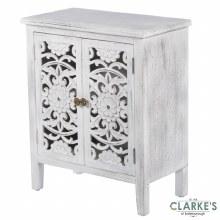 Jessie Antique White 2 Door Cabinet