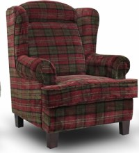 Manor Wing Chair Red