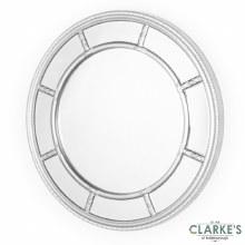 Nautilus Silver Round Mirror 90cm