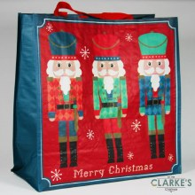 North Pole Nutcracker Jumbo Christmas Shopping Bag