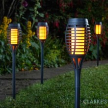 Party Flaming Torch Black - Pack of 5