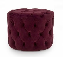 Perkins Foot Stool Crimson