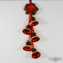 Premier Hanging Bell Cluster Red 63.cm