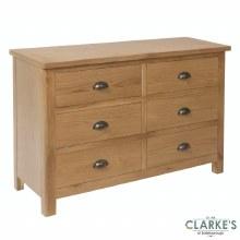 Purdi Oak 3 + 3 Drawer Chest