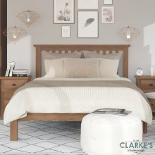 Purdi Oak Bed Frame