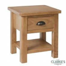 Purdi Oak Lamp Table with Drawer
