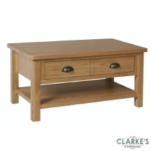 Purdi Oak Large Coffee Table with Drawers