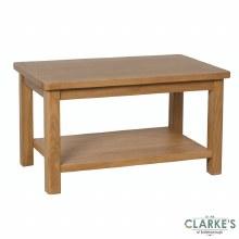 Purdi Oak Coffee Table with Shelf