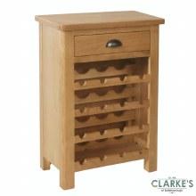 Purdi Oak Wine Cabinet