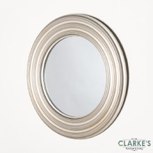 Reflection Ridge Round Champagne Mirror 90cm