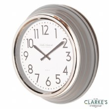 Retro Grey Cafe Clock 35cm