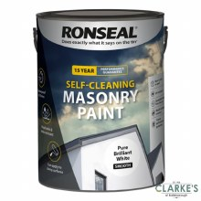 Ronseal Self Cleaning Masonry Paint White 5 Litre