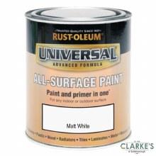 Rust-Oleum Universal All-Surface Paint Matt White 250 ml