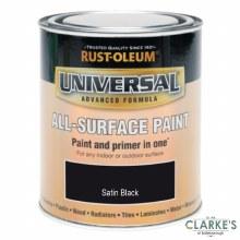 Rust-Oleum Universal All-Surface Paint Satin Black 250 ml