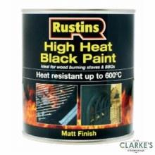 Rustins High Heat Black Paint 250 ml
