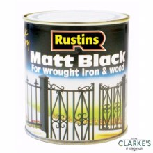 Rustins Matt Black Paint Wrought Iron and Wood 1 Litre