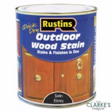 Rustins Outdoor Woodstain Satin Ebony 500 ml